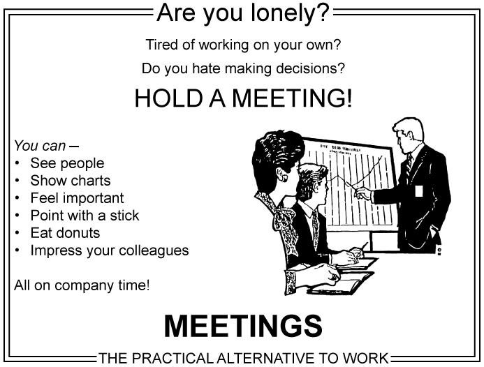 Hold a meeting in office