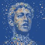 Mark Zuckerberg Pic Using Facebook Icons
