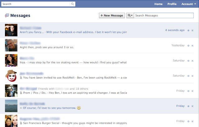 Walk-through] Facebook's New Messaging System - TechPaparazzi