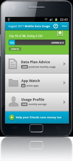 Limit Data Usage Android app