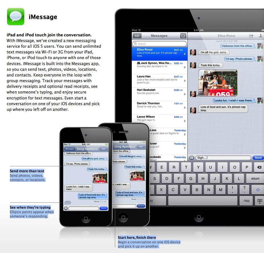 iMessenger iOS5