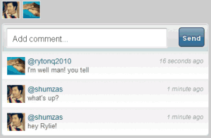 Twitter Real-time Chats