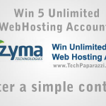 Win 5 Unlimited Web Hosting Accounts by Zyma for 1 year