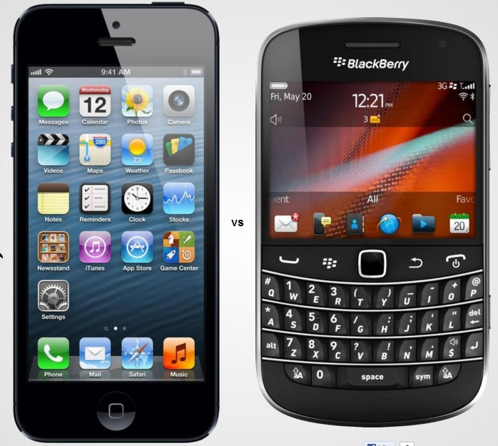 iPhone5-vs-BlackBerry-Bold-Touch9900