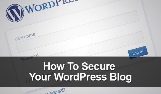 Secure your wordpress blog