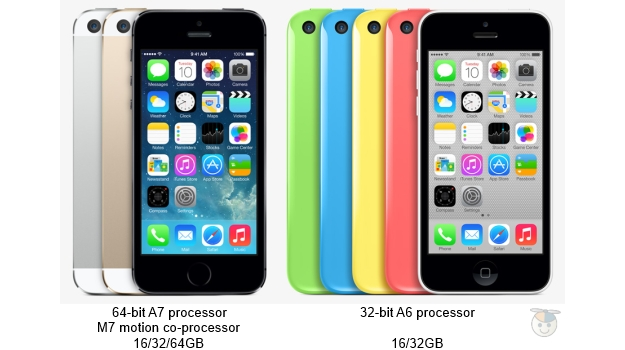 iPhone 5c vs. 5s