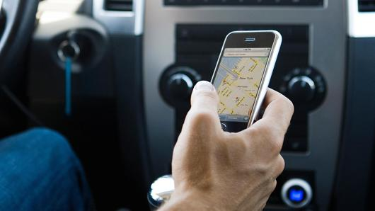 using smartphone maps